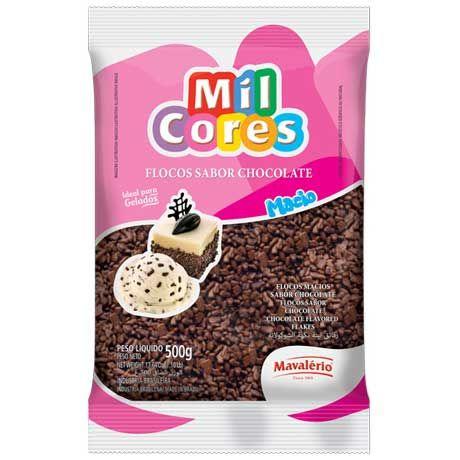 Flocos Macio Sabor Chocolate 500g - Mil Cores