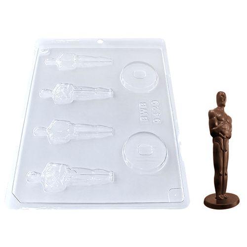 Forma de Chocolate Acetato Estatueta Oscar Média (10 uni) - BWB