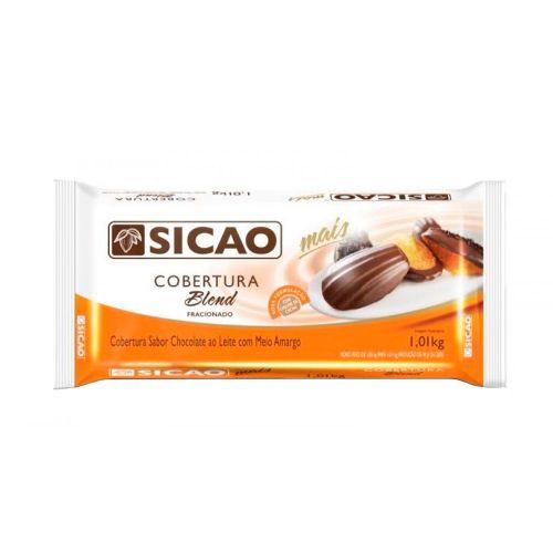 Cobertura Sicao Mais Blend ao Leite com Meio Amargo (1,01kg) - Sicao
