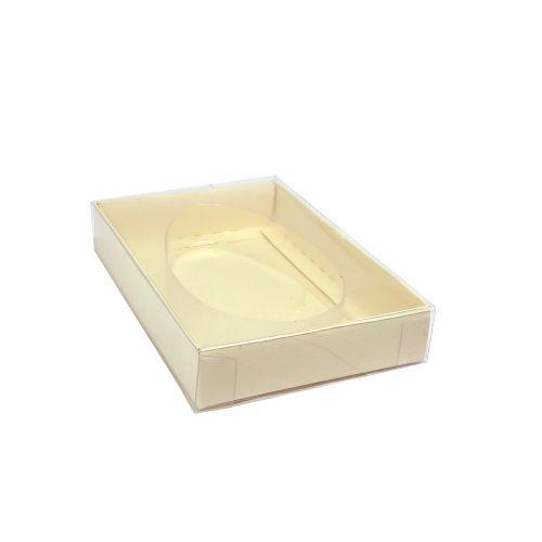Caixa para Ovo Plano em Barra Alto Pequeno Marfim (4 uni) - Mimo