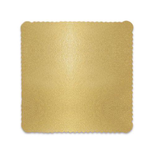Base para Bolo Cakeboard Quadrada Ouro 28cm (10uni) – Ultrafest