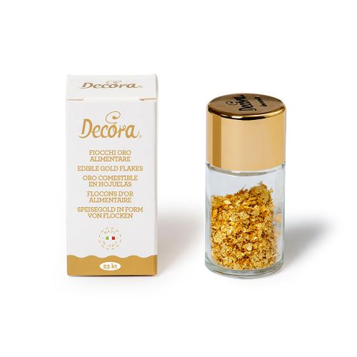 Ouro Comestível em Flocos 23ki - Decora