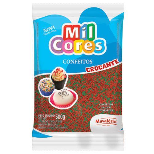 Confeito Miçanga Vermelha/Verde n°0 500g - Mil Cores