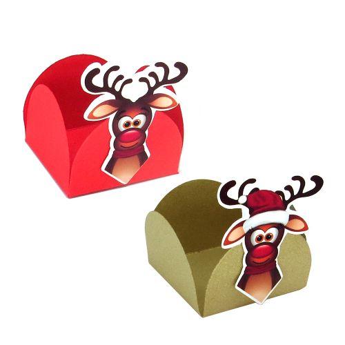 Forminha 4 Pétalas Natal Renas (24uni) - Papel Confeito
