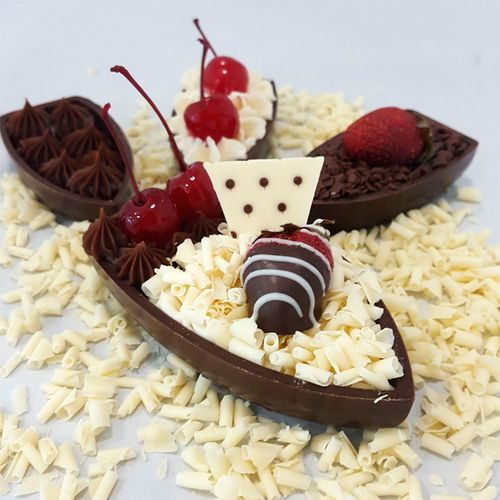 Forma PVC com Silicone Barca de Chocolate Média - BWB