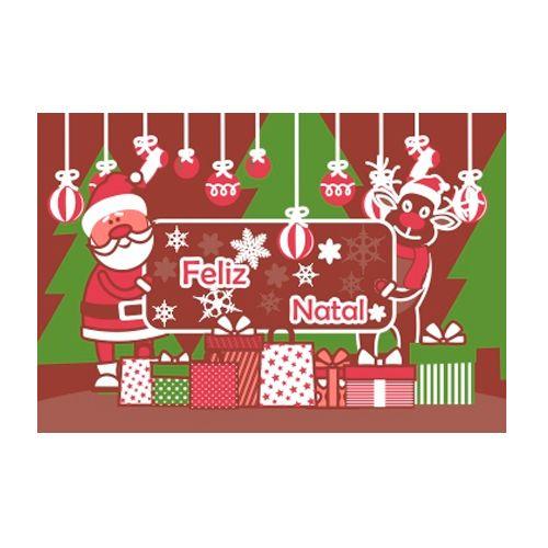 Blister Quebra Cabeça Chocolate - Feliz Natal