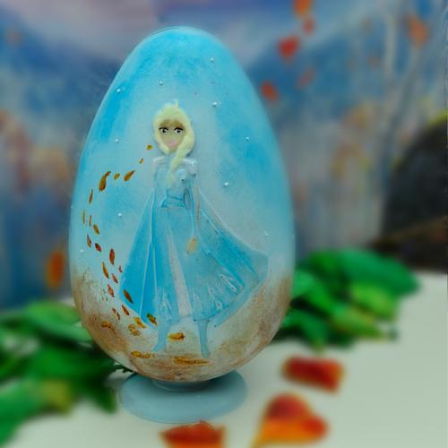 Forma de Chocolate Ovo de Páscoa Acetato e Silicone Frozen Elsa 350g - BWB Disney