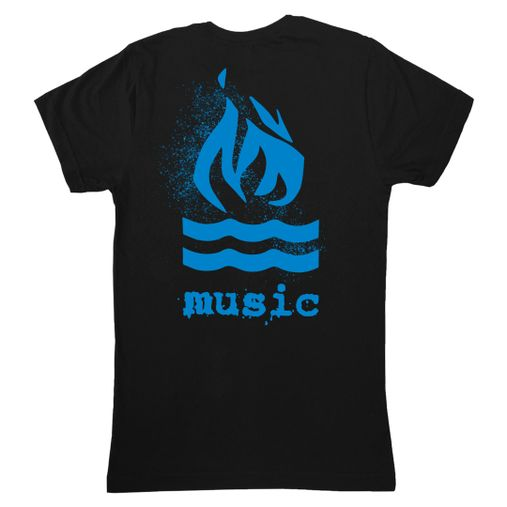 Hot Water Music - Traditional Splatter Blue