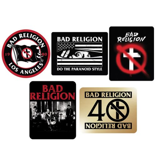Combo: Bad Religion - Sticker Pack + Live 1980 + 40 Years [Adesivos]