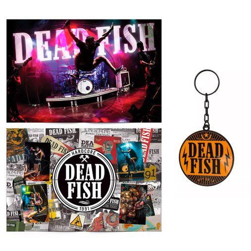Combo: Dead Fish - Chaveiro Vitória + Pôster 30 anos