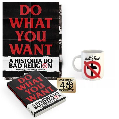 Combo: Bad Religion - Do What You Want - A História do Bad Religion + Caneca Spray Buster