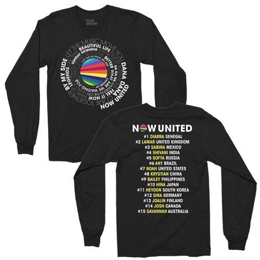 Now United - Song List [Camiseta Manga Longa]