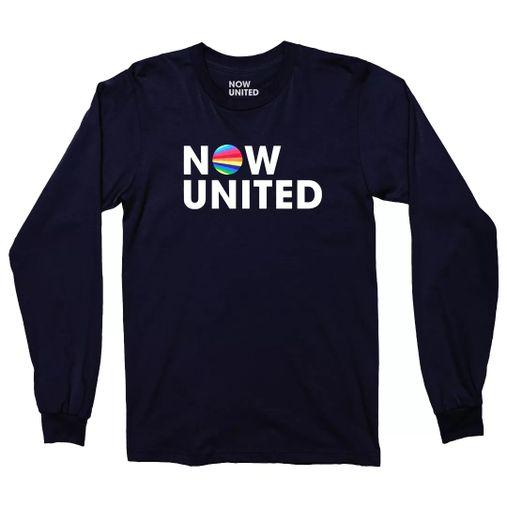 Now United - Classic Logo [Camiseta Manga Longa Azul]