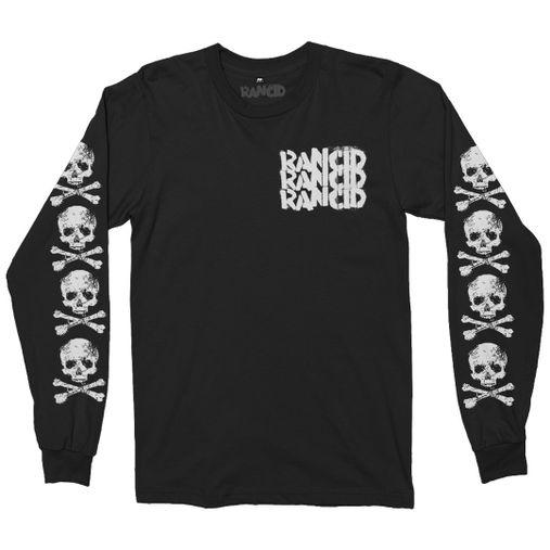 Rancid - D-Skull [Suedine Crewneck Manga Longa]