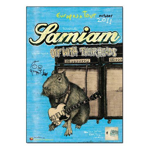 Samiam - European Tour 2011 [Poster Autografado]