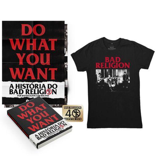 Combo: Bad Religion - Do What You Want - A História do Bad Religion + Camiseta Live 1980