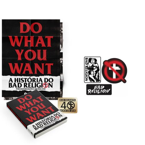 Combo: Bad Religion - Do What You Want - A História do Bad Religion + Patches