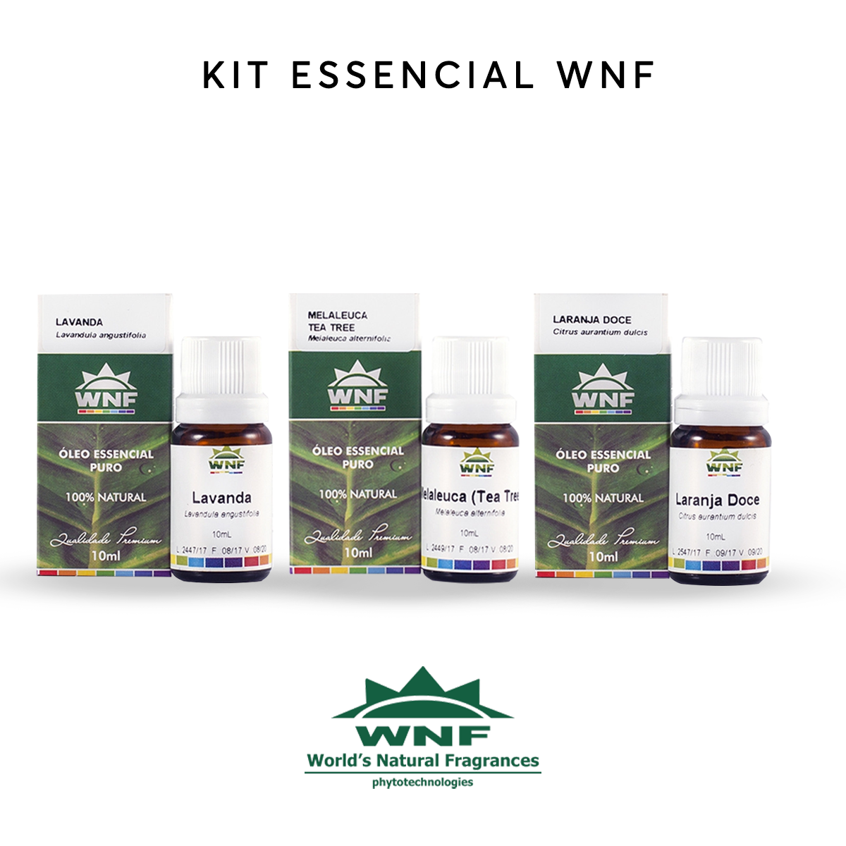 Kit Trio Essencial Para Aromaterapia WNF