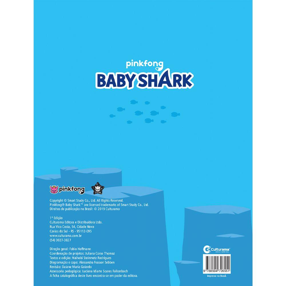 Baby Shark Ler e Colorir Com Adesivos