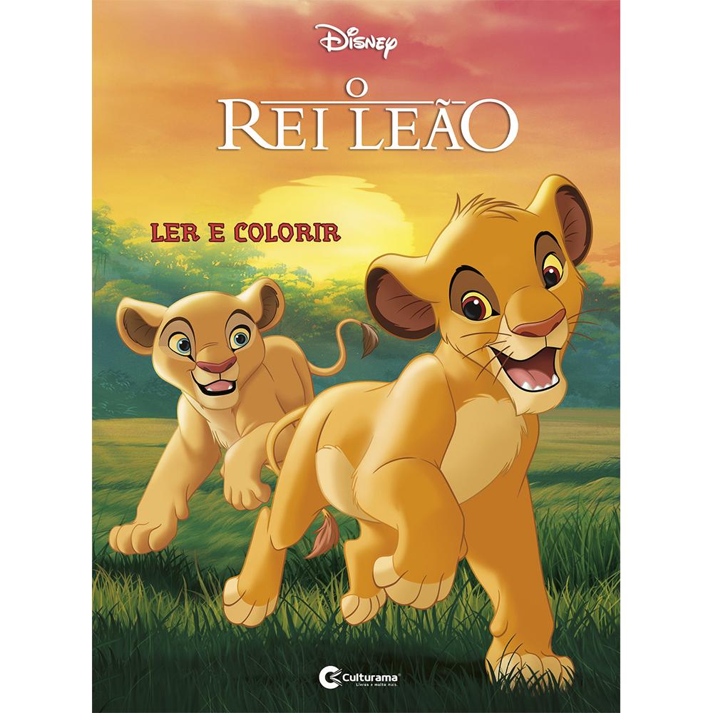 Ler e Colorir Rei Leão