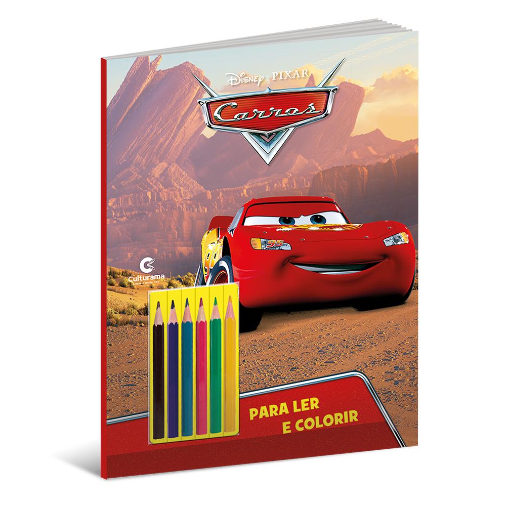 Carros Ler e Colorir Com Lápis