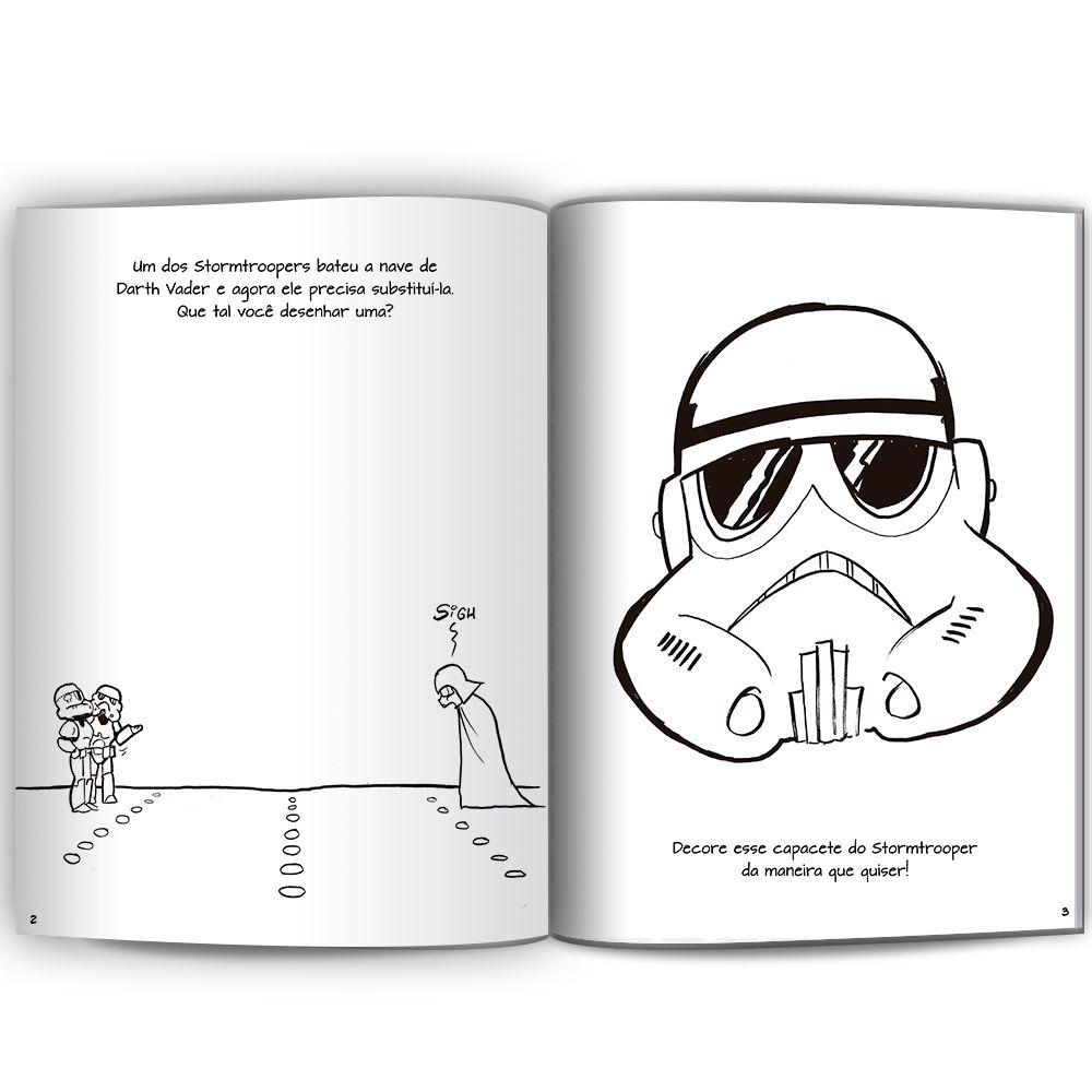 Star Wars Doodles Ler e Colorir Com Lápis