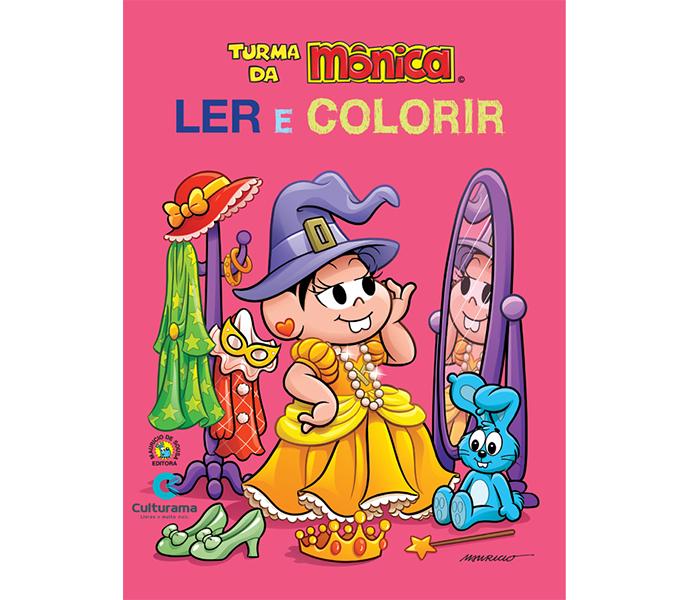 Ler e Colorir Mônica