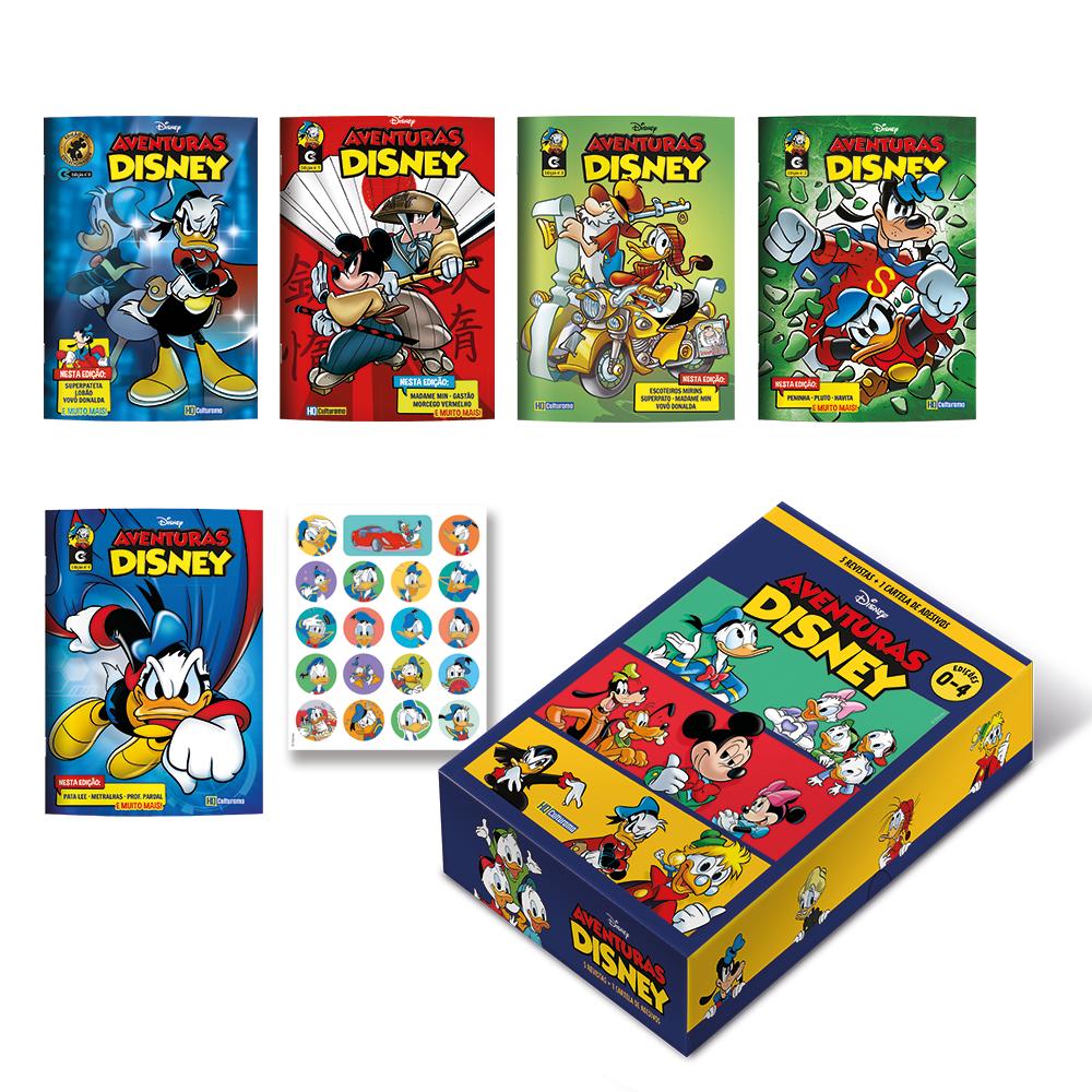 Box Quadrinhos Aventuras Disney - Edições 0 a 4