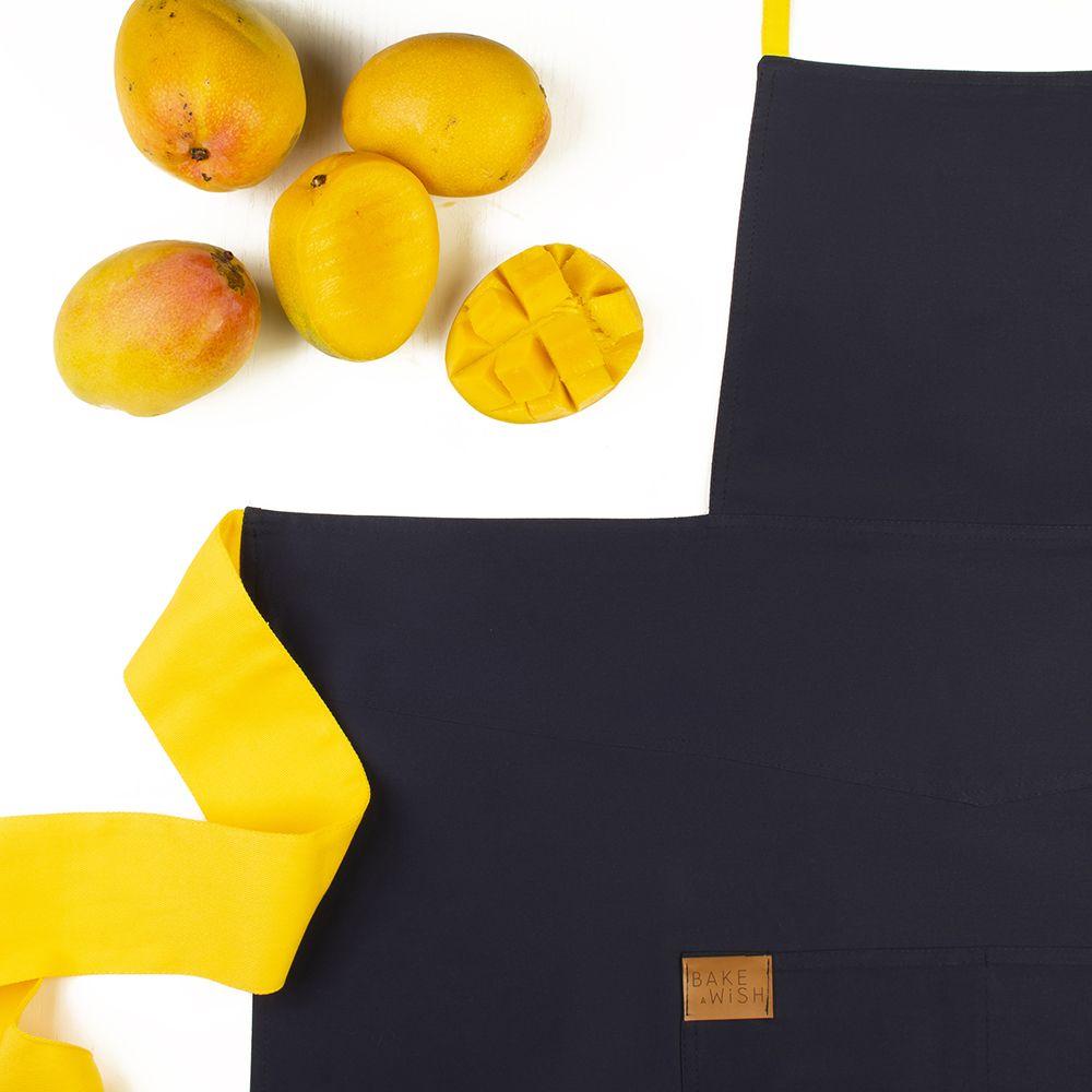 Avental Marinho com Amarelo