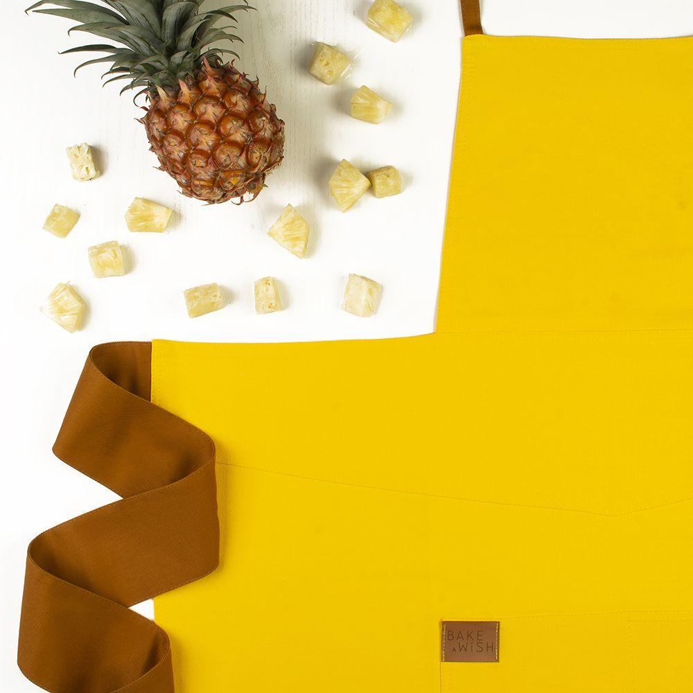 Avental Amarelo com Caramelo