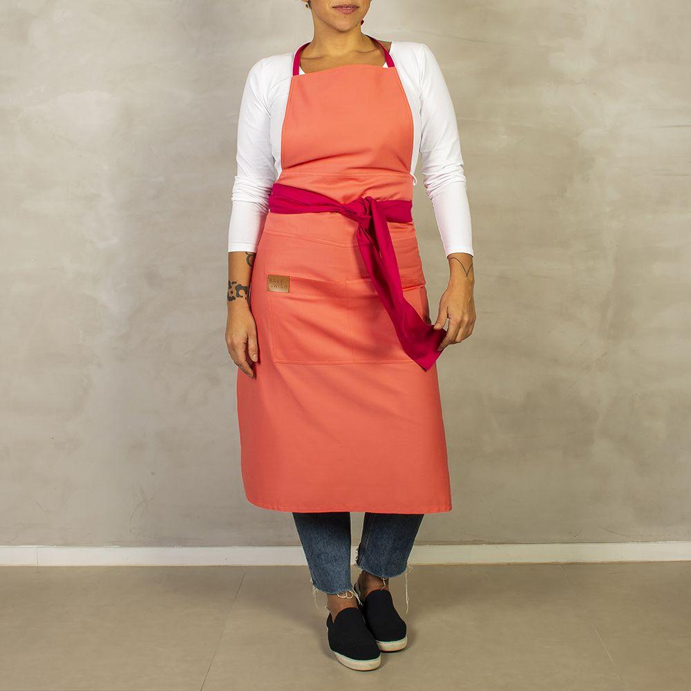Avental Rosa Claro com Pink