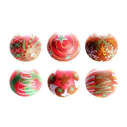Blister Bola de Natal de Chocolate 3cm (63uni) Decoradas - Stalden