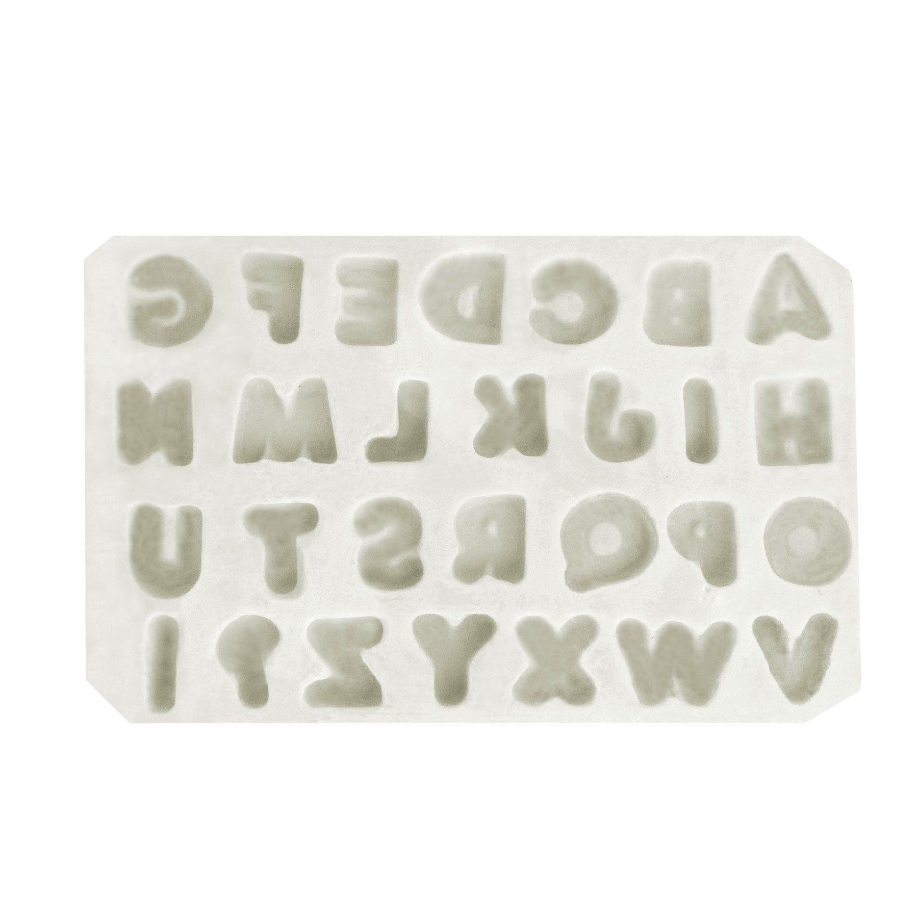 Molde de Silicone Letras (+) Pequenas - Gummies
