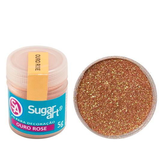 Corante em Pó 3g Sugar Art - Ouro Rose