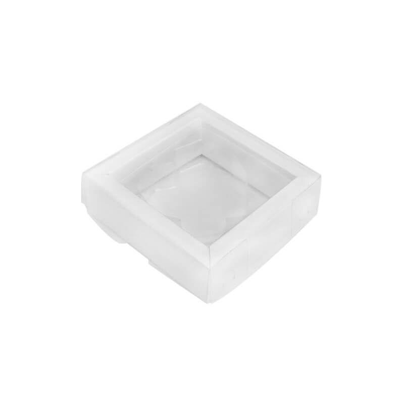 Caixa Coração Diamantado Plano em Barra Pequeno 01 Cavidade Branco (5uni) - ArtCrystal