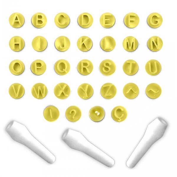 Kit Carimbos Alfabeto Letras (33pcs) - BlueStar