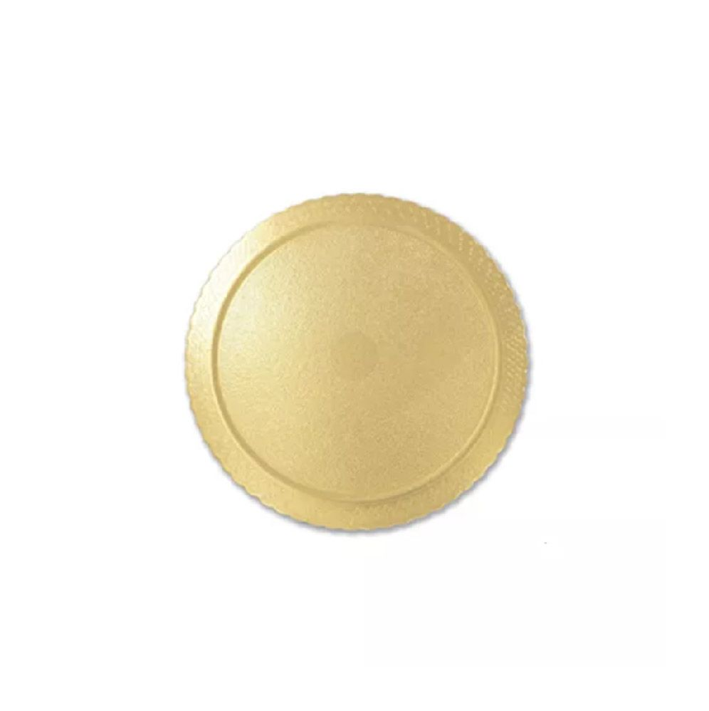 Base para Bolo Cakeboard Redonda Ouro 21cm (10uni) - Ultrafest