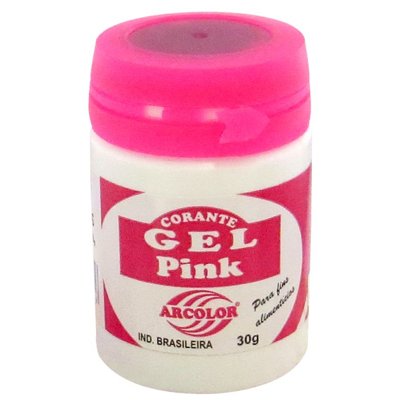 Corante gel Arcolor 30ml - Pink