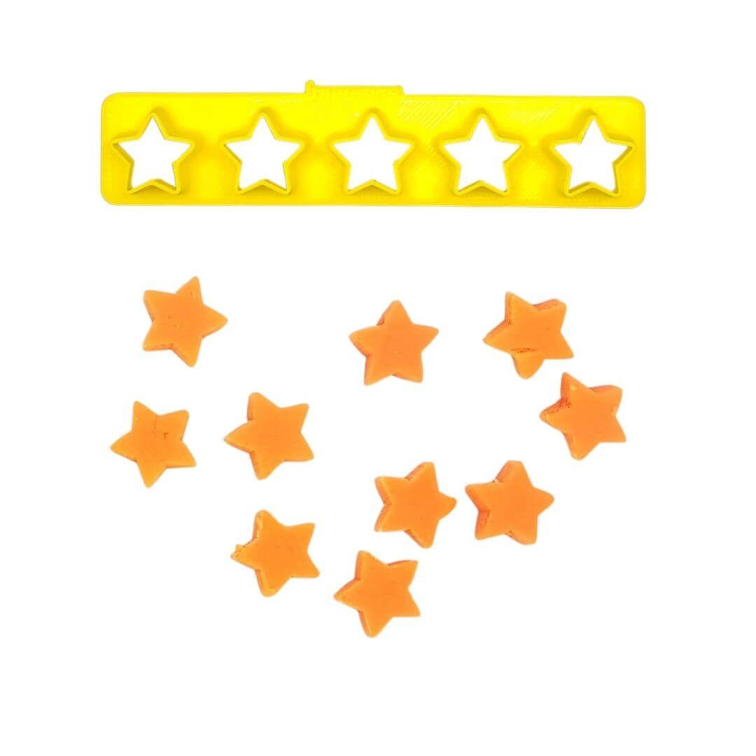 Régua Cortadores Miniatura Estrelas - Imprimire 3D