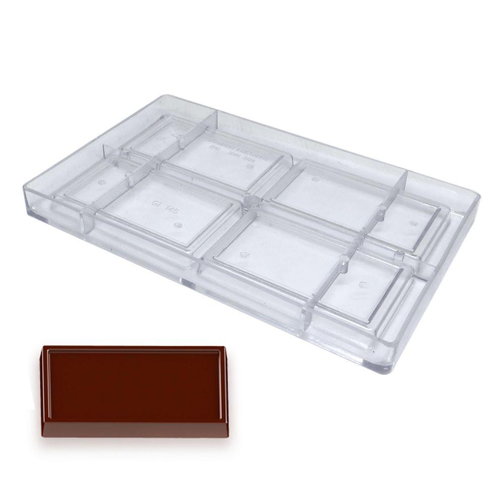 Forma de Chocolate em Policarbonato Tablete/Barra 70g - Gramado Injetados