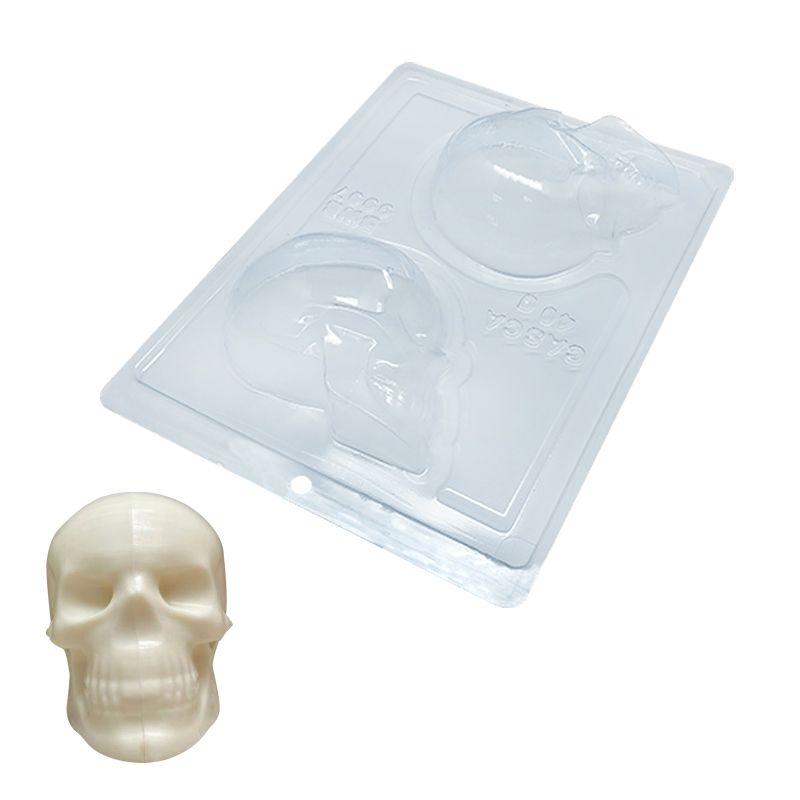 Forma de Chocolate Acetato com Silicone Esqueleto Crânio - BWB