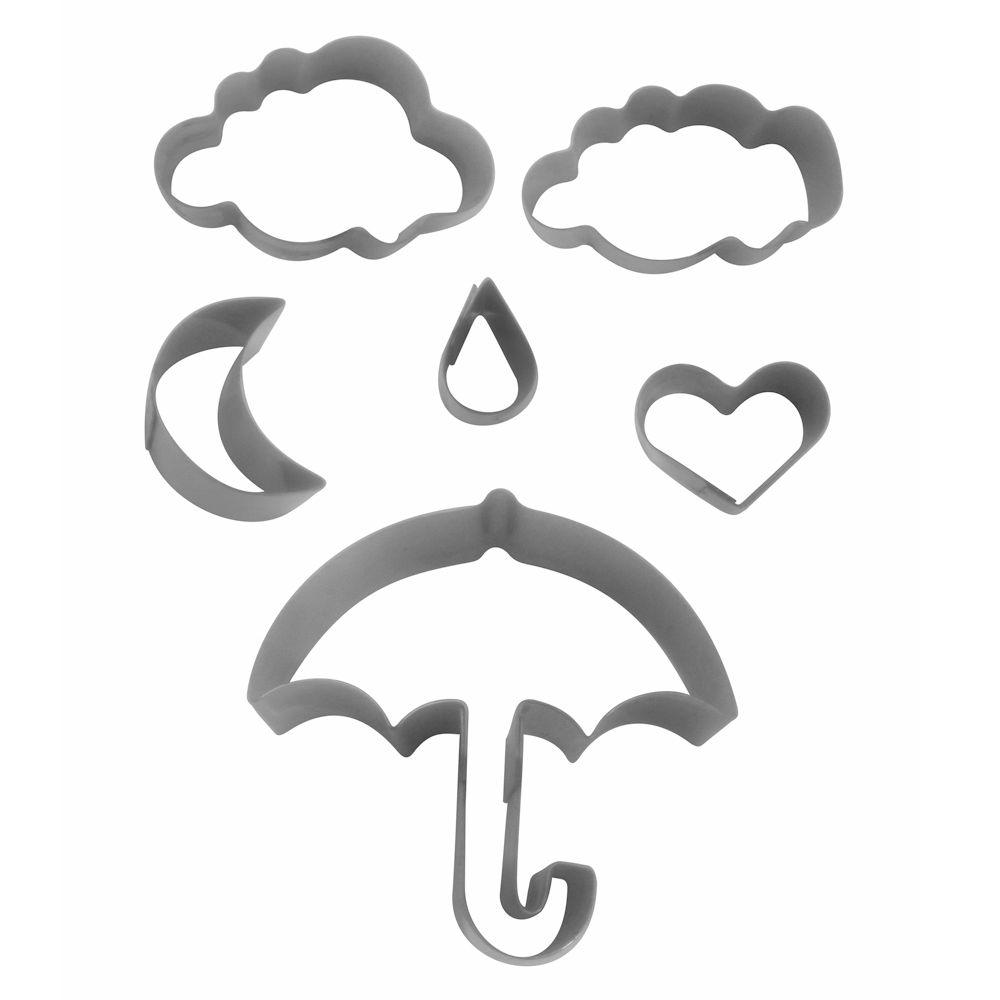 Kit Cortadores Chuva de Amor - RM