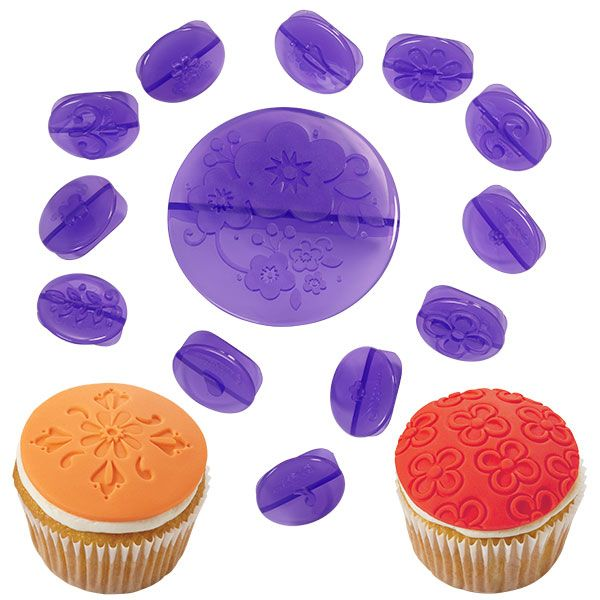 Kit para Decorar cupcake Flores (14 peças) - Wilton