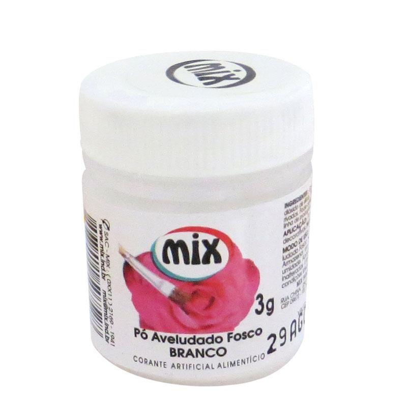 Corante em Pó Aveludado Fosco 3g Mix - Branco