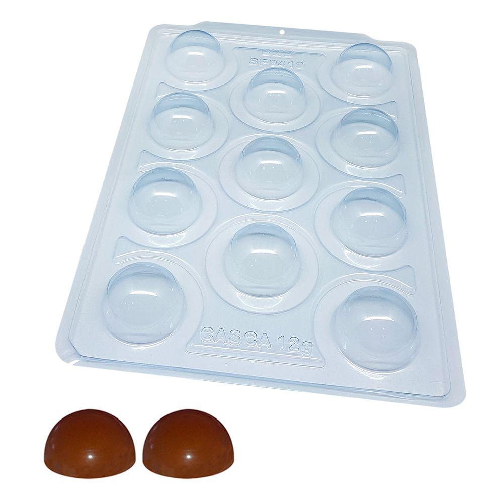 Forma de Chocolate Acetato com Silicone Esfera 5,0cm - BWB Premium