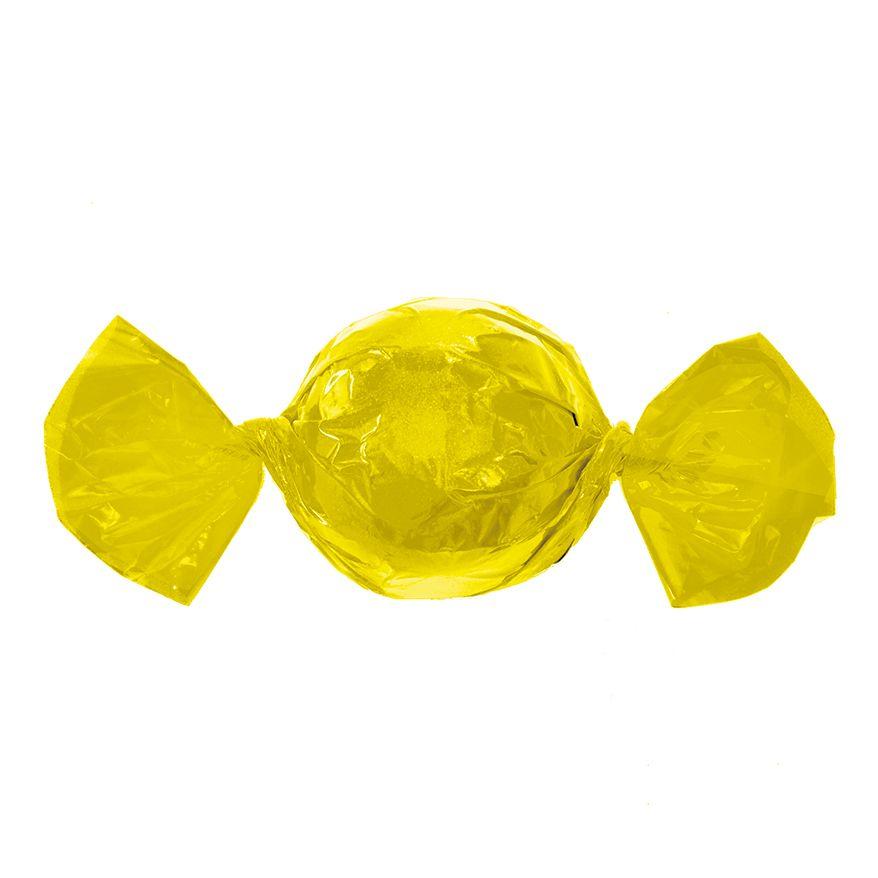 Papel para Embrulhar Trufas 14,5 x 15,5cm (100uni) Amarelo - Cromus