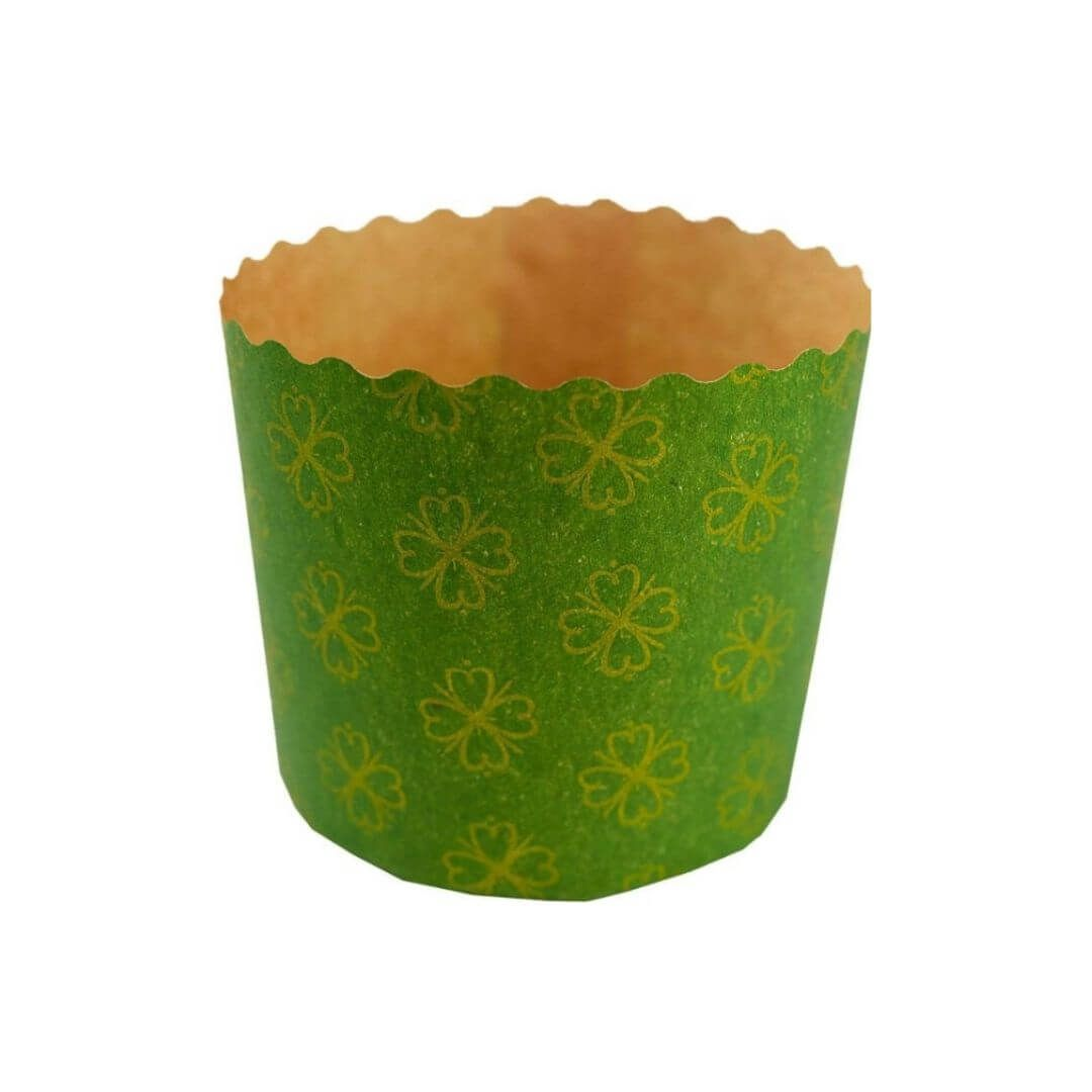 Forma para Panetone 500g Verde (12uni) - Sulformas