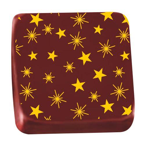 Transfer para Chocolate (40 x 30cm) - Estrelas Amarelo