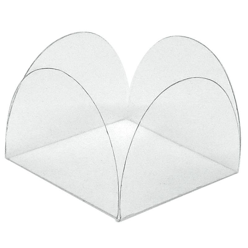Forminha para Doce 4 Pétalas - Acetato Transparente (50 uni)