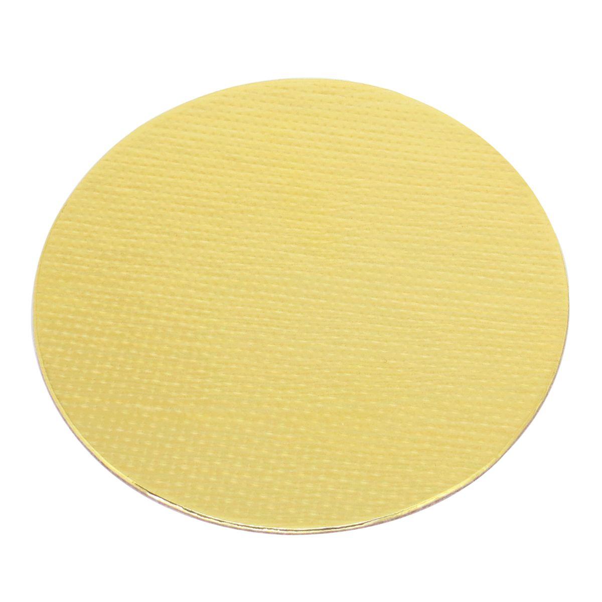 Base Laminada Redonda Dourada para Bolos 31,0cm (5uni)